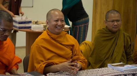 The Most Ven. Dr. Phra Brahmapundit, rector of Mahachulalongkornrajavidyalaya University, and his delegation visited the Dharma Gate Buddhist College to discuss collaborations connected to the European Buddhist Training Center.