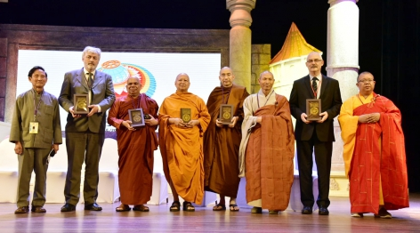 The introduction of Common Buddhist Text to the participant of the celebration.
